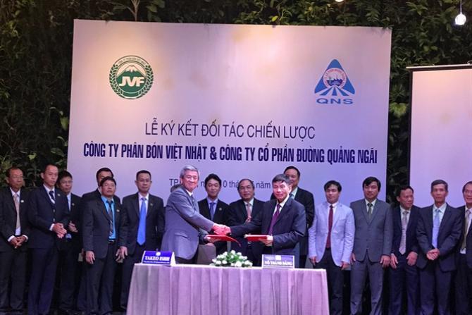 Phân bón Việt Nhật ký hợp tác với Đường Quảng Ngãi 2017